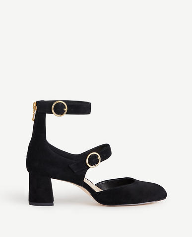 Arielle Suede Mary Jane Pumps