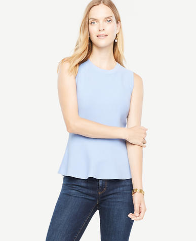 Image of Sleeveless Peplum Top