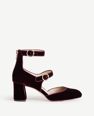 Arielle Velvet Mary Jane Pumps