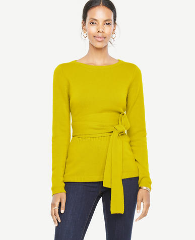 Image of Cashmere Belted Sweater