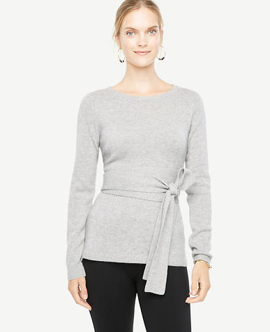 Cashmere Belted Sweater