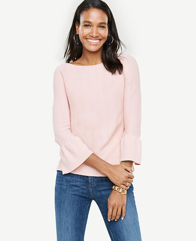 Stitch Ruffle Cuff Sweater