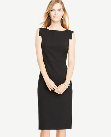 Tall Seasonless Stretch Boatneck Sheath Dress