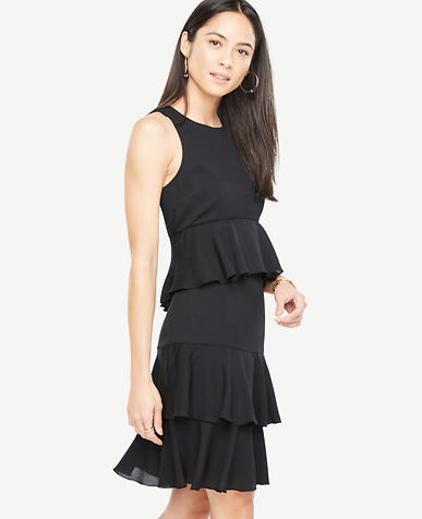Image of Petite Tiered Ruffle Dress