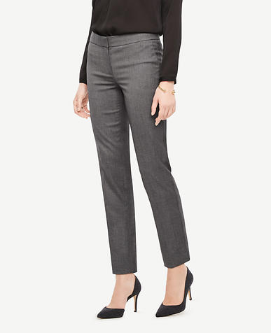 The Petite Ankle Pant In Sharkskin - Devin Fit