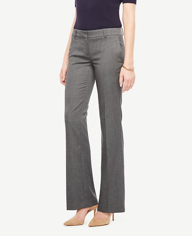The Petite Trouser In Sharkskin - Devin Fit