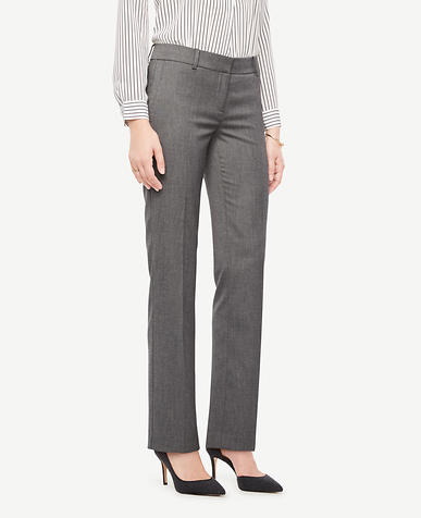 The Petite Straight Leg Pant In Sharkskin - Kate Fit