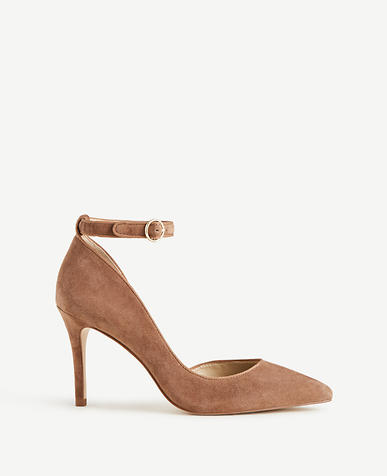 Stephania Suede D'Orsay Pumps