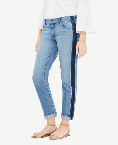 Side Striped Girlfriend Jeans