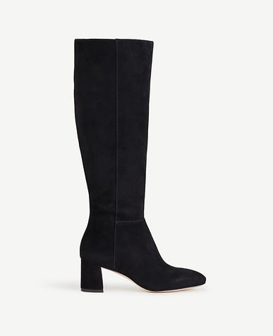 Image of Larkin Suede Heeled Boots