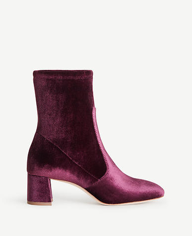 Image of Larissa Velvet Stretch Booties