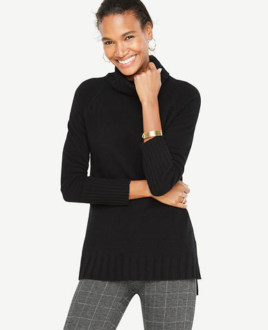 Cashmere Turtleneck Tunic Sweater