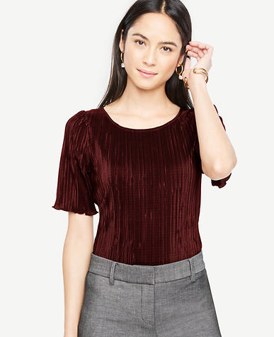Pleated Knit Tee