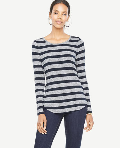 Image of Stripe Jersey Layering Top