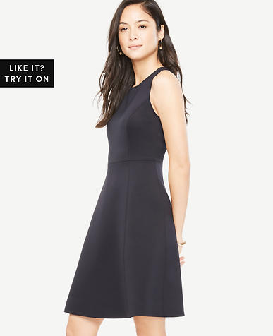 Petite Structured Fit and Flare Dress