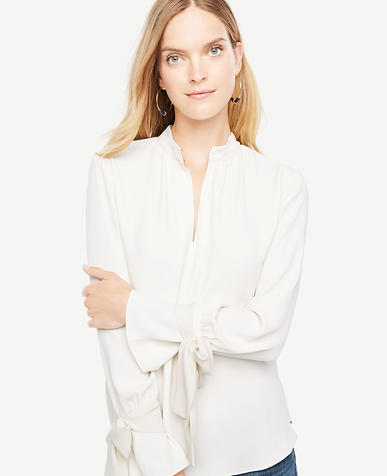 Image of Bow Cuff Blouse