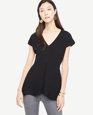 Image of Draped Peplum Top