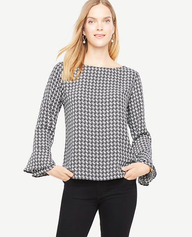 Tulip Boatneck Flare Cuff Blouse