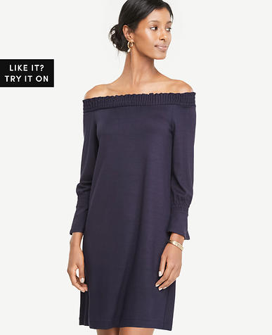 Image of Smocked Off The Shoulder Dress