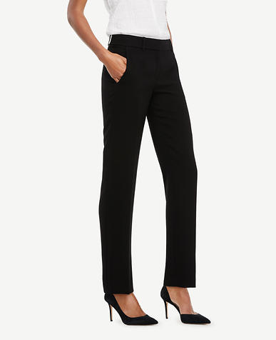 The Straight Leg Pant In Doubleweave - Ann Fit