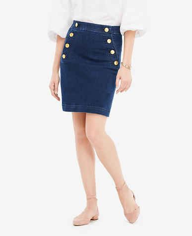 Denim Sailor Skirt