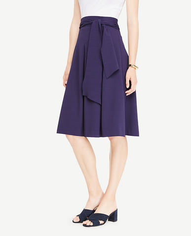 Image of Petite Belted Full Skirt