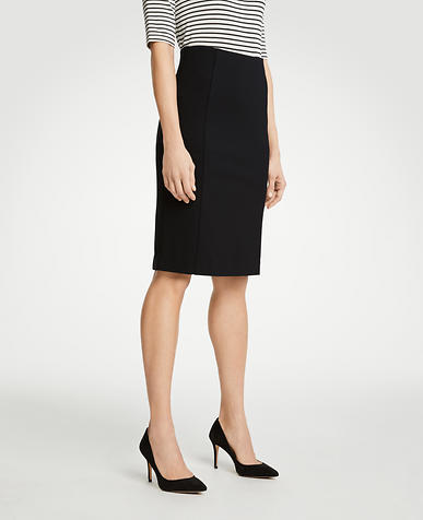 Petite Ponte Pencil Skirt