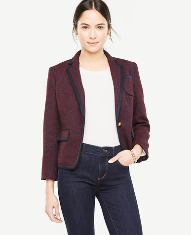 Petite Tipped Tweed Newbury Blazer