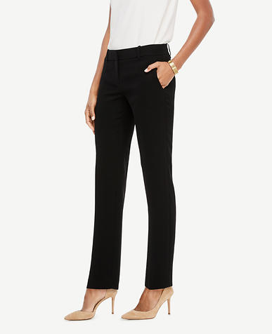 The Petite Straight Leg Pant In Doubleweave - Devin Fit