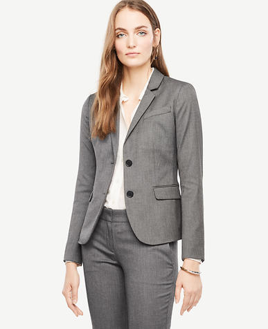 Tall Sharkskin Two Button Jacket