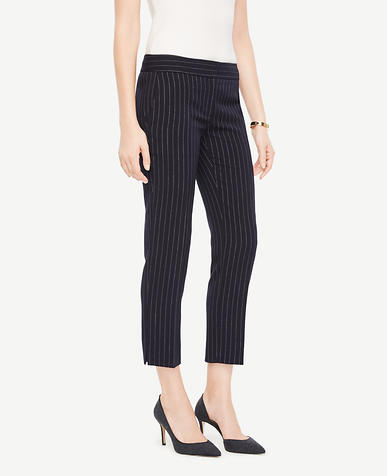 The Petite Ankle Pant In Pinstripe - Kate Fit
