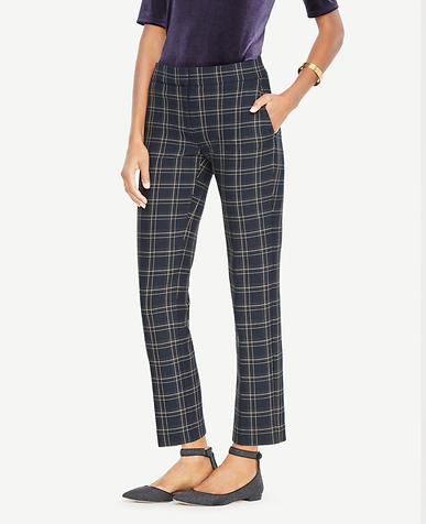 The Ankle Pant In Plaid - Devin Fit