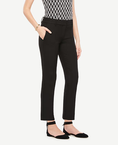 The Petite Ankle Pant In Double Cloth - Devin Fit
