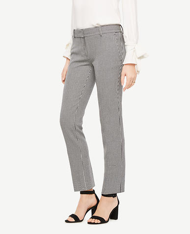 The Petite Ankle Pant In Mini Houndstooth - Kate Fit