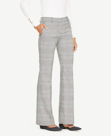 The Petite Madison Trouser In Glen Plaid - Devin Fit
