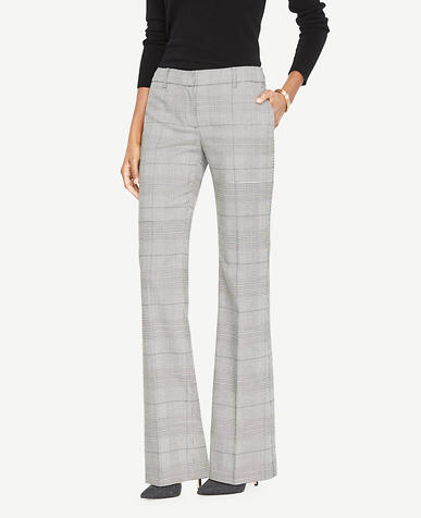 The Petite Madison Trouser In Glen Plaid - Kate Fit