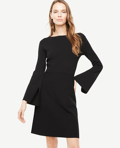 Slit Sleeve Flare Sweater Dress