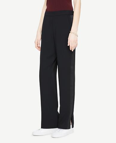 Petite Tux-Stripe Track Pants