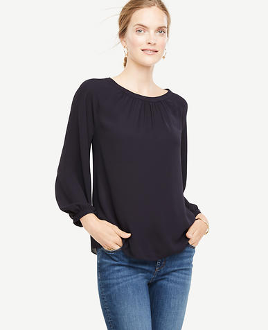 Image of Shirred Blouse