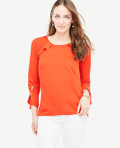 Image of Ruffle Long Sleeve Top