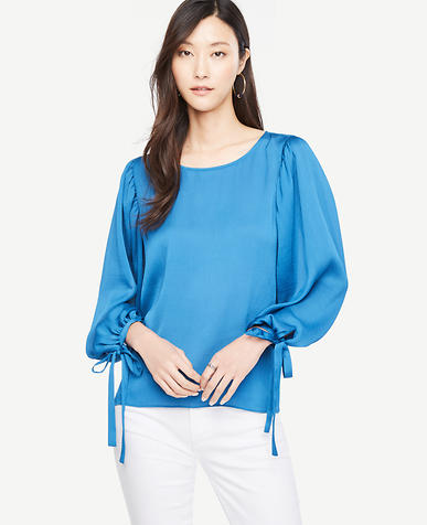 Image of Tie Sleeve Blouse