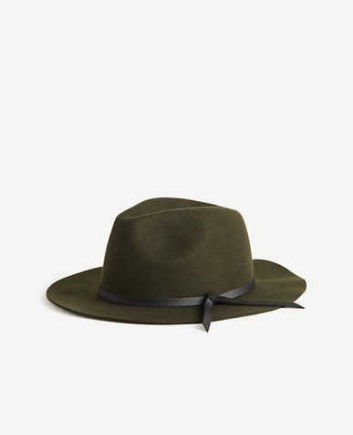 Leather Tie Fedora
