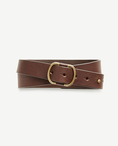 Pebbled Leather Stud Belt