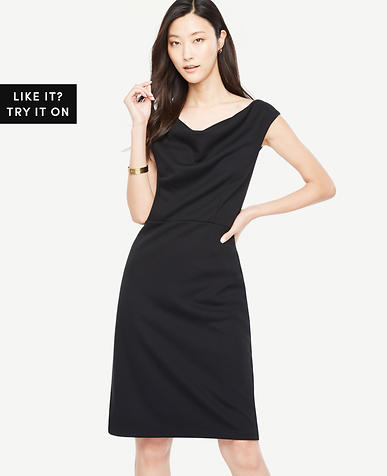 Tall Draped Ponte Sheath Dress