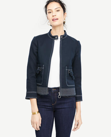 Stitched Grommet Jacket