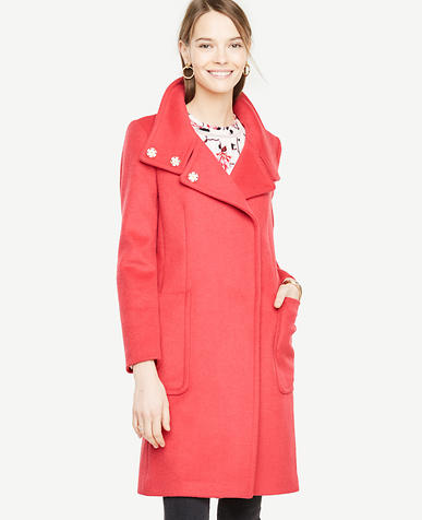 Pink Weekend Funnel Neck Coat
