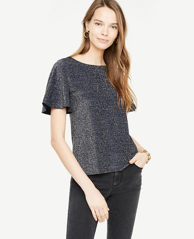 Flutter Sleeve Sparkle Top