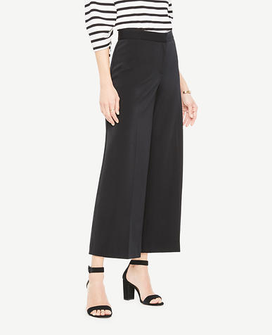 Image of Petite Knit Wide Leg Crop Pants