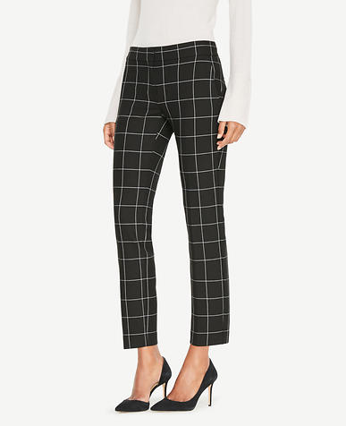 The Tall Ankle Pant In Windowpane - Kate Fit