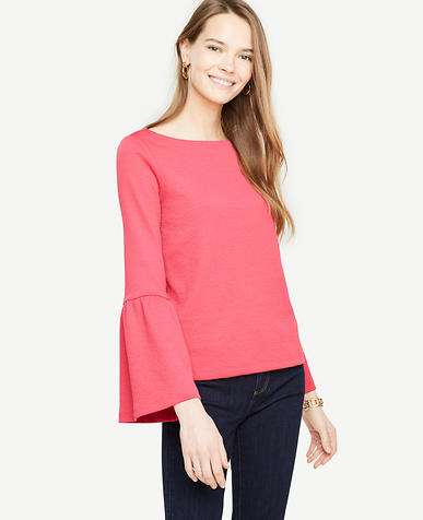 Pink Weekend Flare Sleeve Knit Top